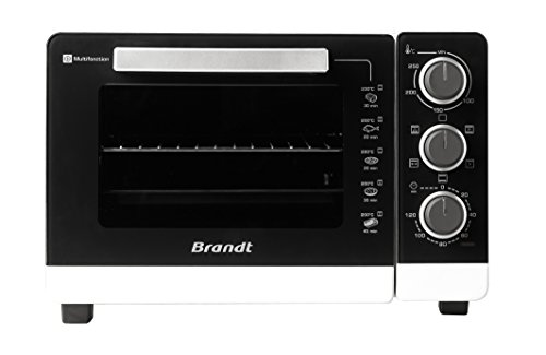 Brandt FC265MW FC265MB Mini Four Multifonction posable, 1500 W, 26 liters, Blanc