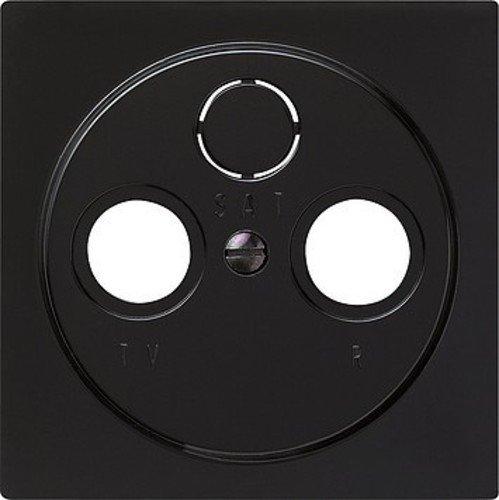 Gira 086947 afdekking antenne-contactdoos S, zwart