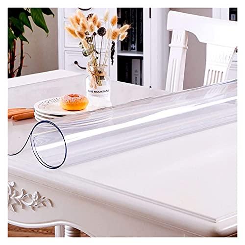 AYLYHD Mantel Protector de Mesa de Vinilo Transparente, Suave e Impermeable, Mesa de Comedor Comedor Cocina Caucho Resistente a la Suciedad (Color : 2.0mm, Size : 40x60cm)