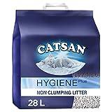 Catsan Hygiene Plus Non Clumping Cat Litter, 28 Litres Odour Control (2 x 14L)