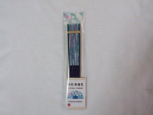 Daiso Japan Folding Fan Watercolor Morning Glory