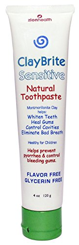 Claybrite natural toothpaste for SENSITIVE GUMS & TEETH - Non-Fluoride