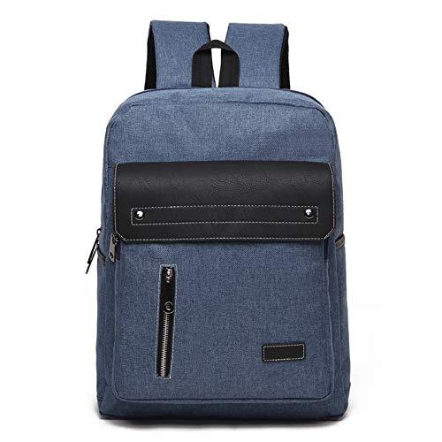 Laptop Bag, Universal Multi-Function Oxford Cloth Laptop Computer Shoulders Bag Business Backpack Students Bag, Size: 39x30x12cm, Portable Notebook Computer Carrying Case Bag (Color : Blue)