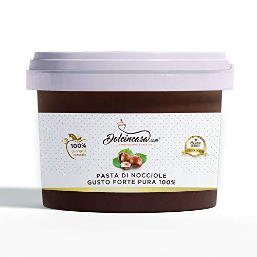 Pasta di Nocciole Pura 100 % Gusto Forte per Gelati Crema Ganache Crema Pasticcera Senza Glutine 500 g