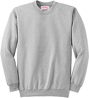 Sweatshirts Unisex Jumpers, Mens Sweats Basic Crew Neck Set in Sleeve Sweatshirts