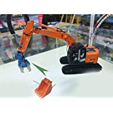 HITACHI 1/50 完成品 ZAXIS 225USRK Excavator(Equipped with digging bucket + floor removal clamp) ダイキャスト 掘削機