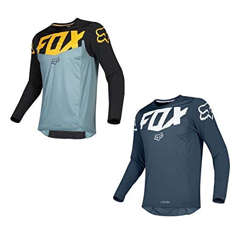 Breathable Motocross Jersey Motorcycle Racing Jersey DH BMX MTB MX Racewear Dirt Bike Riding Shirt Casual Sportswear (LightBlue,M)