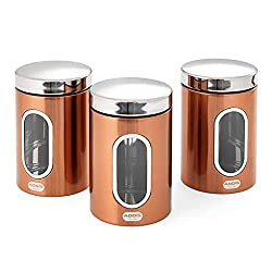 Fingerprint Resistant Comes in a range of product to match Set of 3x Canisters Available in a range of products & colours Addis branded Individual Dimension : Height 17.5cm x Diameter 11cm Capacity 1.4L Fingerprint Resistant Comes in a range of produ...