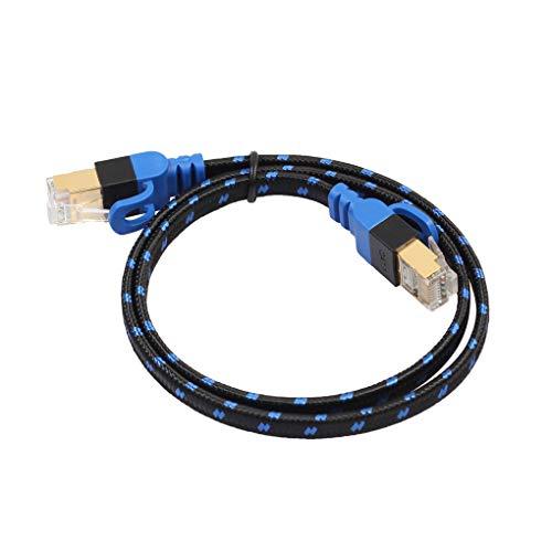 Fangfeen 10 Gbps Cable Red LAN RJ45 Cat 7 Plana PVC