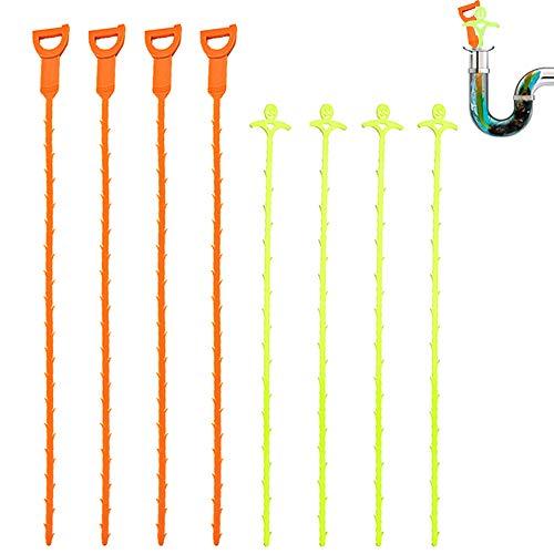 Senhai Abflussentfernungswerkzeug zur Haarentfernung für Küche, Badezimmer, Badewanne, Toilette, Boden, 8 Stück