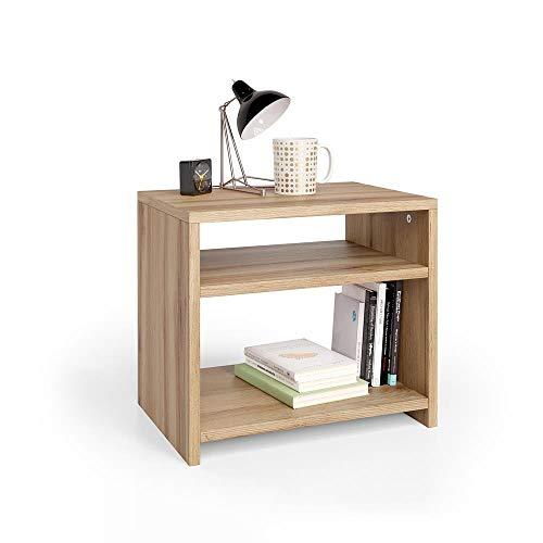 Mobili Fiver, Comodino Martino, Rovere Rustico, 45 x 33 x 40 cm, Nobilitato, Made in...