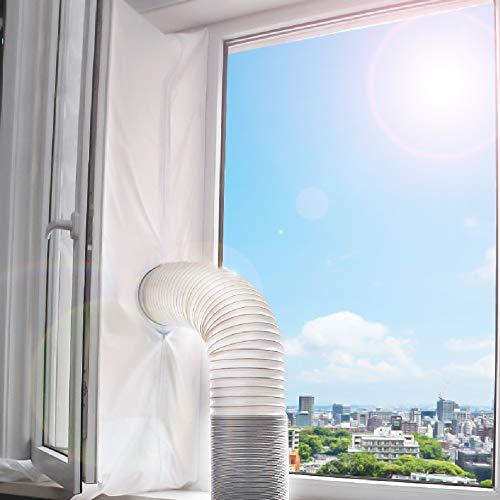 Fensterabdichtung, für mobile Klimageräte, Klimaanlagen, Wäschetrockner, Ablufttrockner, stop Heiβluft zum Anbringen an Fenster, Dachfenster, Flügelfenster, Fensterabdichtung Klimaanlage 560cm