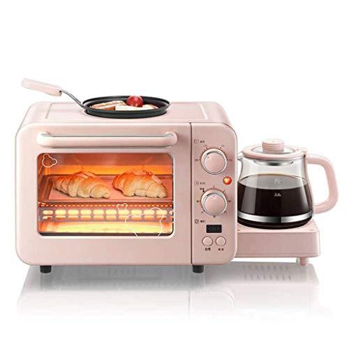 PPTOOL 3-In-1-Toaster Mit Antihaft-Bratpfanne Und Kaffeemaschine (0,8 L), Frühstücksmaschine (1400 W), Temperaturanzeige, Back-, Heiz- Und Omelettfunktion