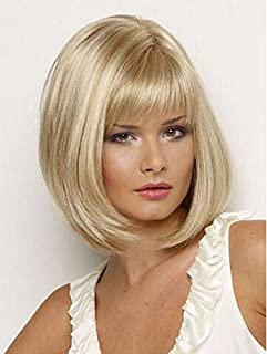 Fashion short straight wigs blond for women 0820-11
