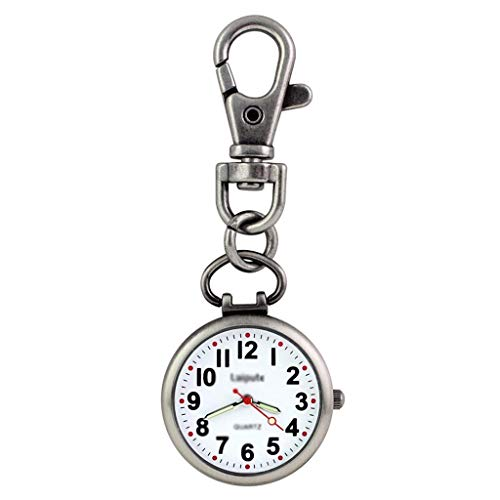 ZTMN Mini Reloj de Bolsillo Llavero Retro Reloj de Bolsillo Reloj de Bolsillo para Estudiantes Reloj de Cuarzo