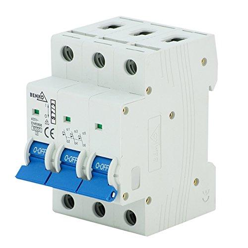 LS-Schalter Leitungsschutzschalter Sicherungsautomat C 3-polig 6-63A (Nennstrom 16 A)