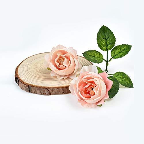 SOQHD Künstliche Blumen Rose Blüte Europäische Retro Tee-Blumen-Zucker-Box Geschenk-Box Zubehör (Color : Champagne)