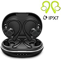 HolyHigh Auriculares Bluetooth 5.0 Inalámbricos Deportivos Auriculares In-Ear Impermeable IPX7 6+30H Autonomía Auto-On/Off Emparejamiento Siri Sonido Estéreo con Mic para iPhone Android