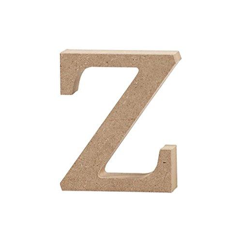 Lettre, h: 8 cm, MDF, z, 1 pièce