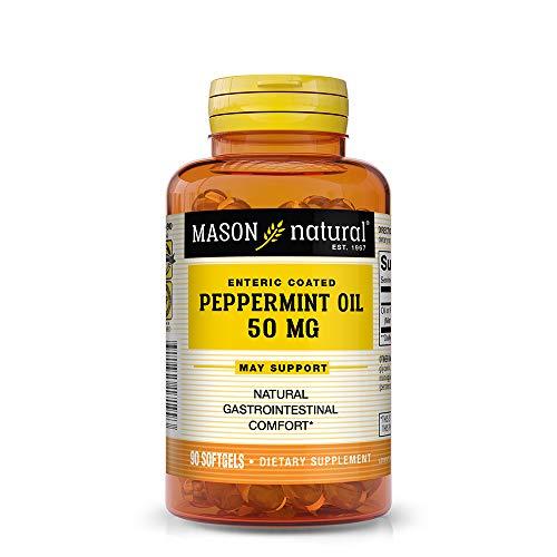Mason Natural Peppermint Oil 50 mg, 90 Softgels