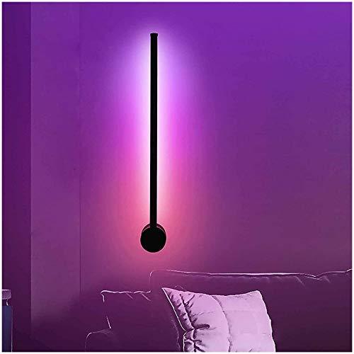 Aplique Pared Interior LED Lámpara De Pared Moderna Para Sala De Estar RGB Color Cambiante Luz De Nórdico Con Control Remoto Y APP Para Salón Dormitorio Y Oficina Decoración,Rgb+remote control,80