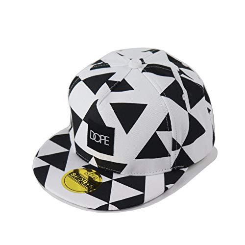 Gorra de Beisbol Baseball-Cap Dope Patch Triangle Block Printing Sombreros de Hip Hop Gorra Deportiva de Marea Amantes de Hombres y Mujeres Sombrero de béisbol de Borde Plano