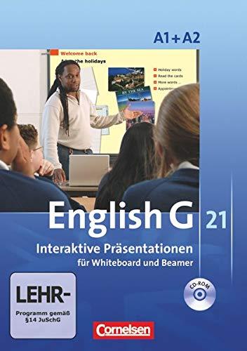 English G 21 - Materialien für Whiteboard und Beamer - Ausgabe A: Band 1/2: 5./6. Schuljahr - Interaktive Präsentationen für Whiteboard und Beamer: CD-ROM