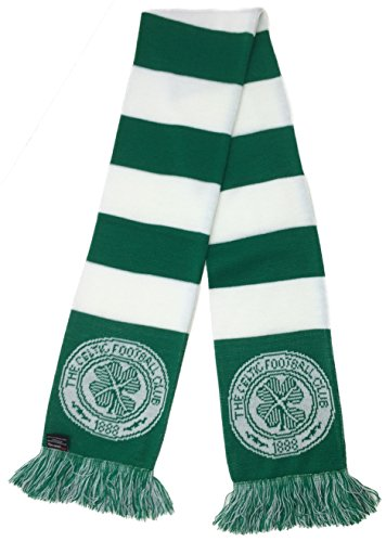 RUFFNECK Scottish Premier League Celtic Scarf - Classic BarScarf, Green, One Size