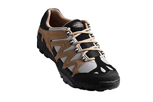 Massi Coyote - Zapatillas de ciclismo MTB unisex, color marrón / gris, talla 42