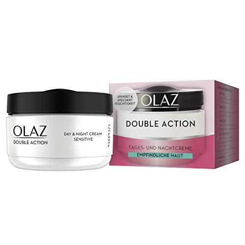 Olaz Double Action Tages- Und Nachtcreme für Empfindliche Haut, 50ml
