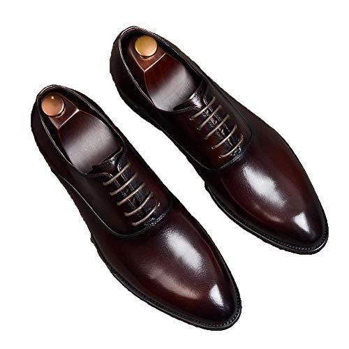 Zapatos De Cuero De Negocios Zapatos De Cuero para Hombres Traje De...