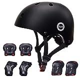 XJD Kids Helmet 3-8 Years Toddler Helmet Boys Girls Sports Protective Gear Set Knee Pad Elbow Pads Wrist Guards Adjustable Roller Bicycle BMX Bike Skateboard Helmets for Kids Pink S