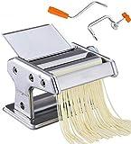 Macchina per pasta manuale, utensili per la casa Macchina per pasta in acciaio inossidabile Manovella a mano - Tagliapasta a rullo Tagliatella Ideale per la comodità fatta in casa (. (Dimensioni: 2 c