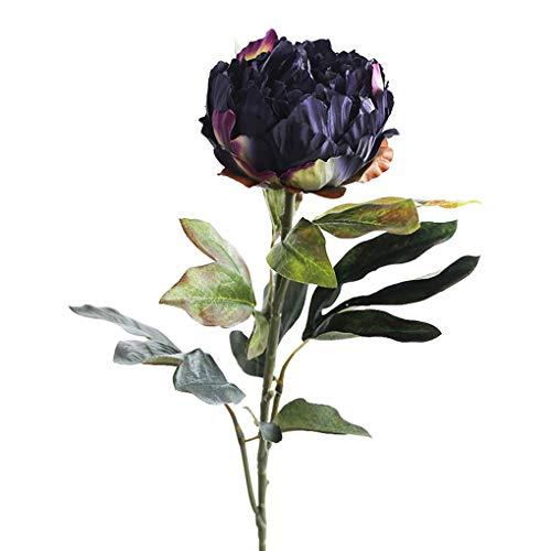 Sarazong Européen Rétro Simulation Faux Fleur Bourgeon Fleur Haute Qualité Pivoine Fleur Artificielle Fleur, Éternel Fleur Décoration De Sol Arrangement de Fleurs Faux Fleurs,A