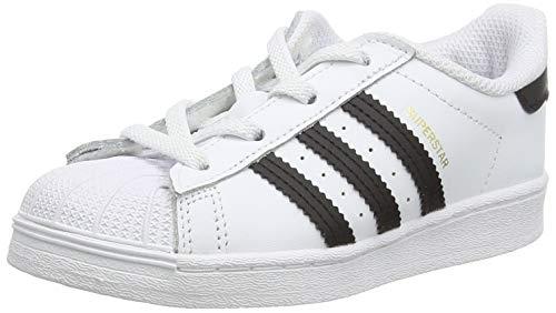 adidas Superstar EL, Zapatillas Deportivas Unisex niños, Blanco (Footwear White/Core Black/Footwear White), 20 EU