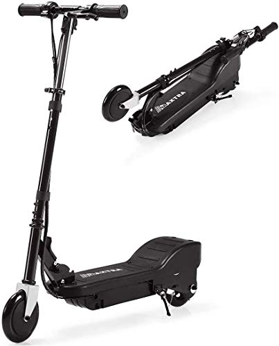 MAXTRA Upgraded E100 Electric Scooter for Kids Ages 6-12, Folding E Scooters with Adjustable Handlebar - Up to 10 mph and 155 lbs Max Load