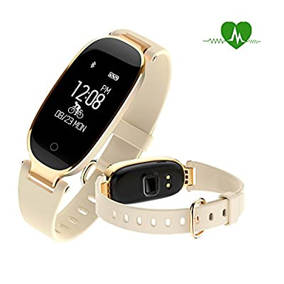 Fitness tracker watch, Waterproof Activity Tracker with Heart Rate Monitor Bluetooth Smart Watch Wireless Smart Bracelet Sleep Monitor Pedometer Wristband for Android and iOS Smartphone