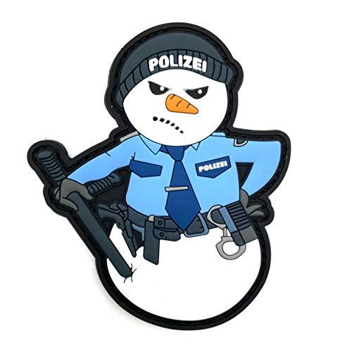 Polizei Schneemann Rubber Patch