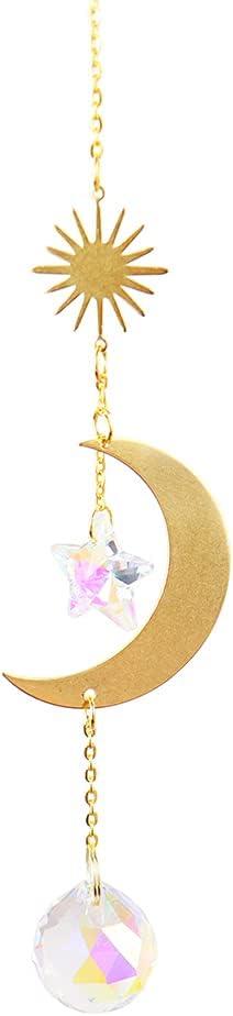 Piklodo Ranking TOP18 Moon Suncatcher Crystals Prism Catc Window Max 88% OFF Hanging Light