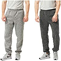 TEXFIT 2-Pack Men's Jogging Pants with Side Pockets, Elastic Bottom, Soft Fleece Sweat Pants