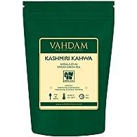 Té Kashmiri Kahwa - Té Chai Saffron Original Indio(50 Tazas), Té Verde Premium mezclado con Kashmiri Saffron, Almendras, Cardamoma y Canela - Té Kashmiri Supremo, Sano y Deliciosa, 100g