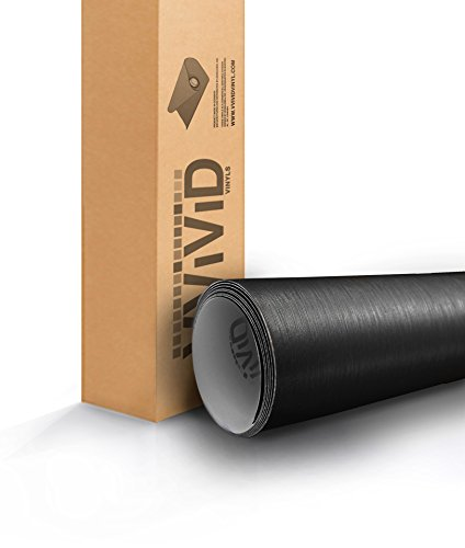 VViViD Black Brushed Steel 5ft x 6ft Car Wrap Roll Sticker Vinyl with Air Release