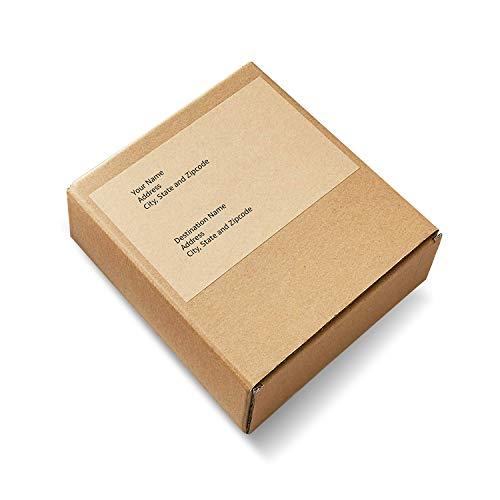 "AmazonBasics Kraft Brown Shipping Labels 5-1/2"" x 8-1/2"", 50-Pack"