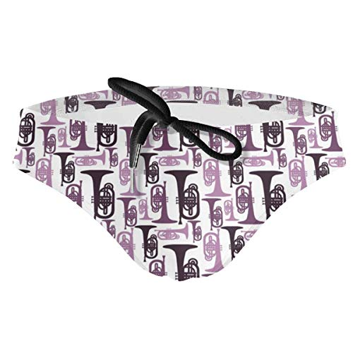 ruziniujidiangongsi Mens Purple Mellophones Swimwear Sexy Bikini Swim Briefs Low Rise Swimsuits Drawstring Trunks