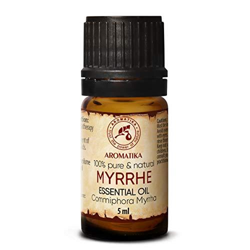 Mirre (Myrrhe) - etherische olie 5ml, 100% puur & natuurlijk, essentiële olie - aromatherapie - geurolie - geurverspreider - ontspanning - toevoegen aan bad & cosmetica - massage - wellness - aroma lamp of elektrische diffuser