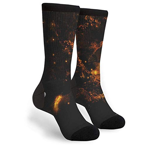 Uosliks A Magnificent Planet Dogs Surface Of Planets Casual Cool 3D Printed Novelty Graphic Crew Tube Socks