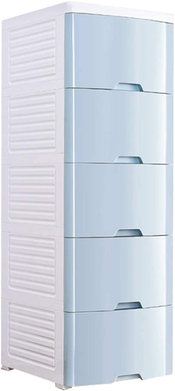 Zzg-2 Multi-layer Chest Of Drawers, Plastic Drawer Type Baby Clothing Storage Box Living Room Narrow Lockers, 42  50  123CM (color   B)
