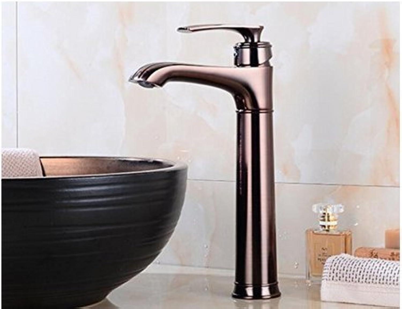 Diongrdk Dark Copper Basin Faucet Bathroom Faucet Heightening