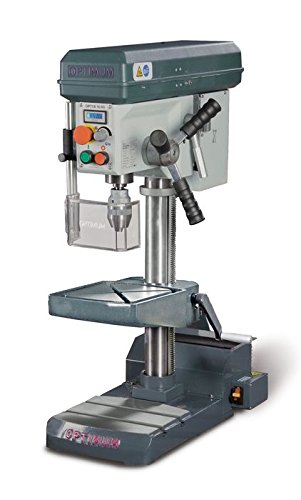 OPTIMUM B 16 HV SET - Taladro de mesa y columna con potente accionamiento sin escobillas OPTIMUM, ajuste continuo, tornillo de banco BMS 85