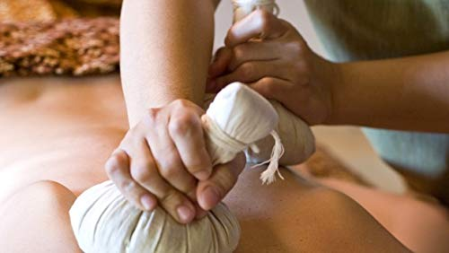GOOD ACTIVE Thai Herbal Compress Ball Natural Herbs Aroma Massage Spa Product LUK Pra KOB Big and Medium Size Pack of 2 (Medium (100g))